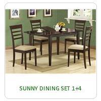 SUNNY DINING SET 1+4